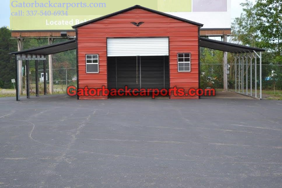 Lean to carports lean to garages gatorback carports Garage carports
