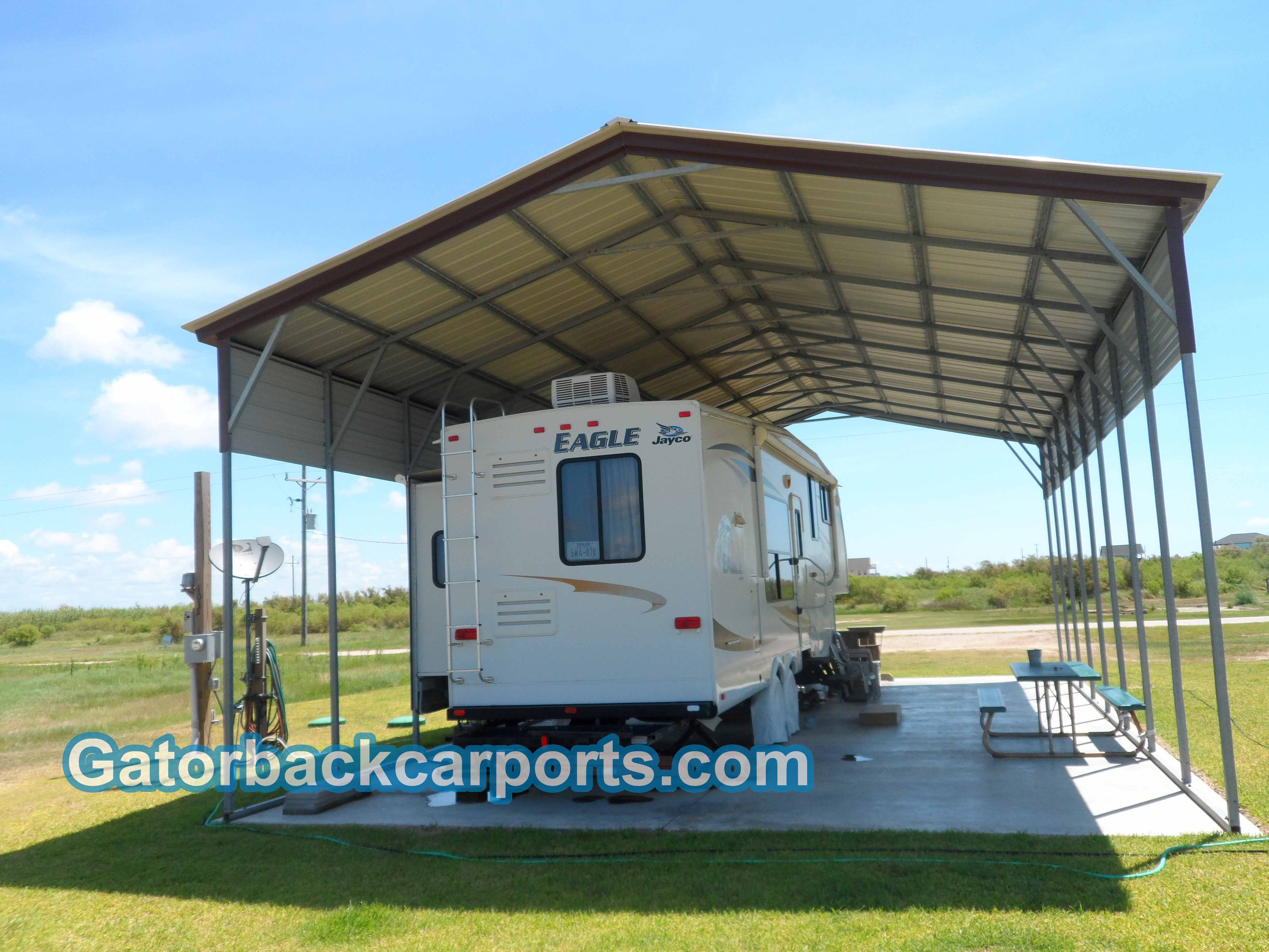 Rv Metal Carport Panels : Rv carports covers garages gatorback