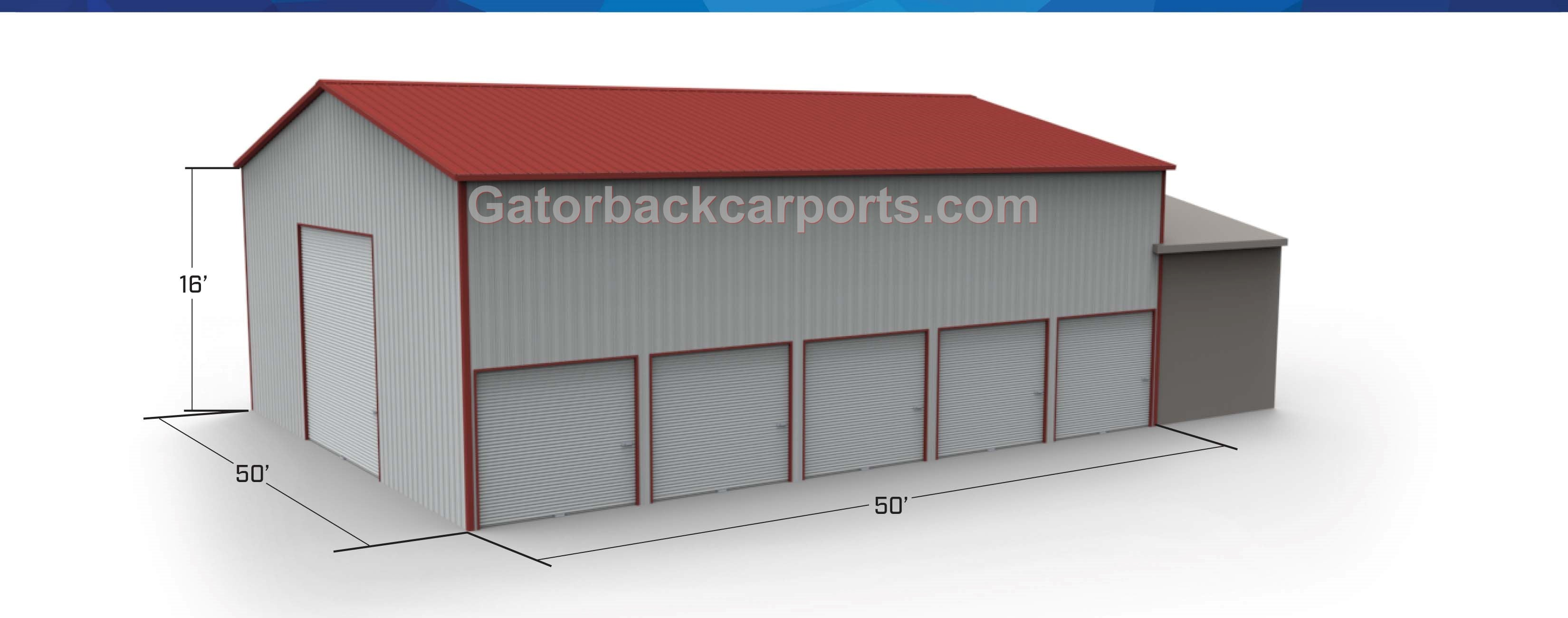 32 60 wide metal buildings gatorback carports for 40x50 shop cost