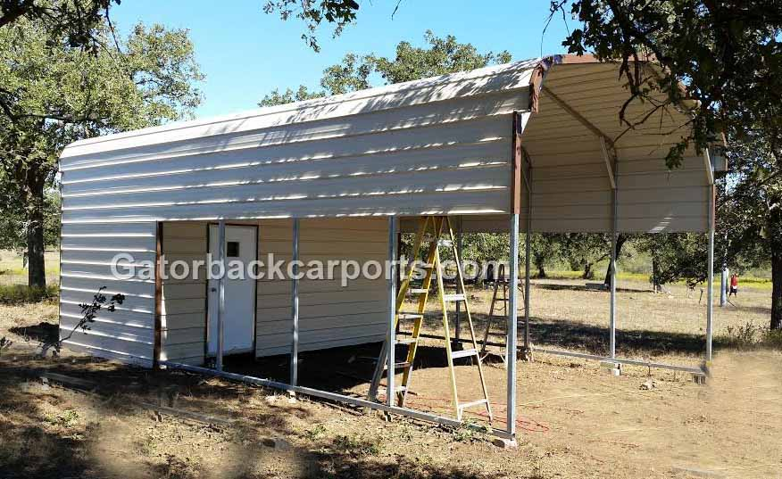 Garages gallery gatorback carports for Carport shed combo