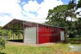 30x37 metal garage lean to