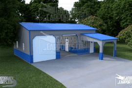 24x26x10-Garage-with-a-12x10-Lean-to-porch