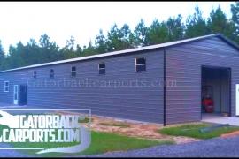30 wide  metal garage MG103