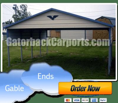 Carports alabama al metal carports gatorback carports for Gable roof carport price