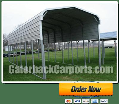 North carolina carports nc carport prices gatorback carports for Gable roof carport price