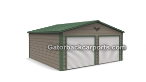 Vetical Roof 2 Door Garage