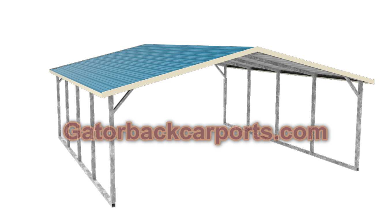 Boxed Eve Style Carports : The difference between horizontal roof and vertical