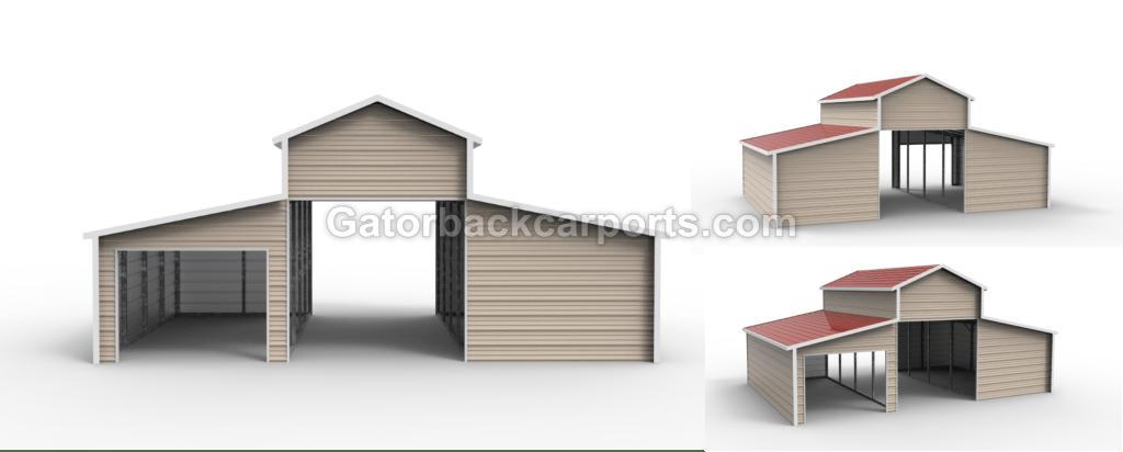 Louisiana Metal Barns La Gatorback Carports
