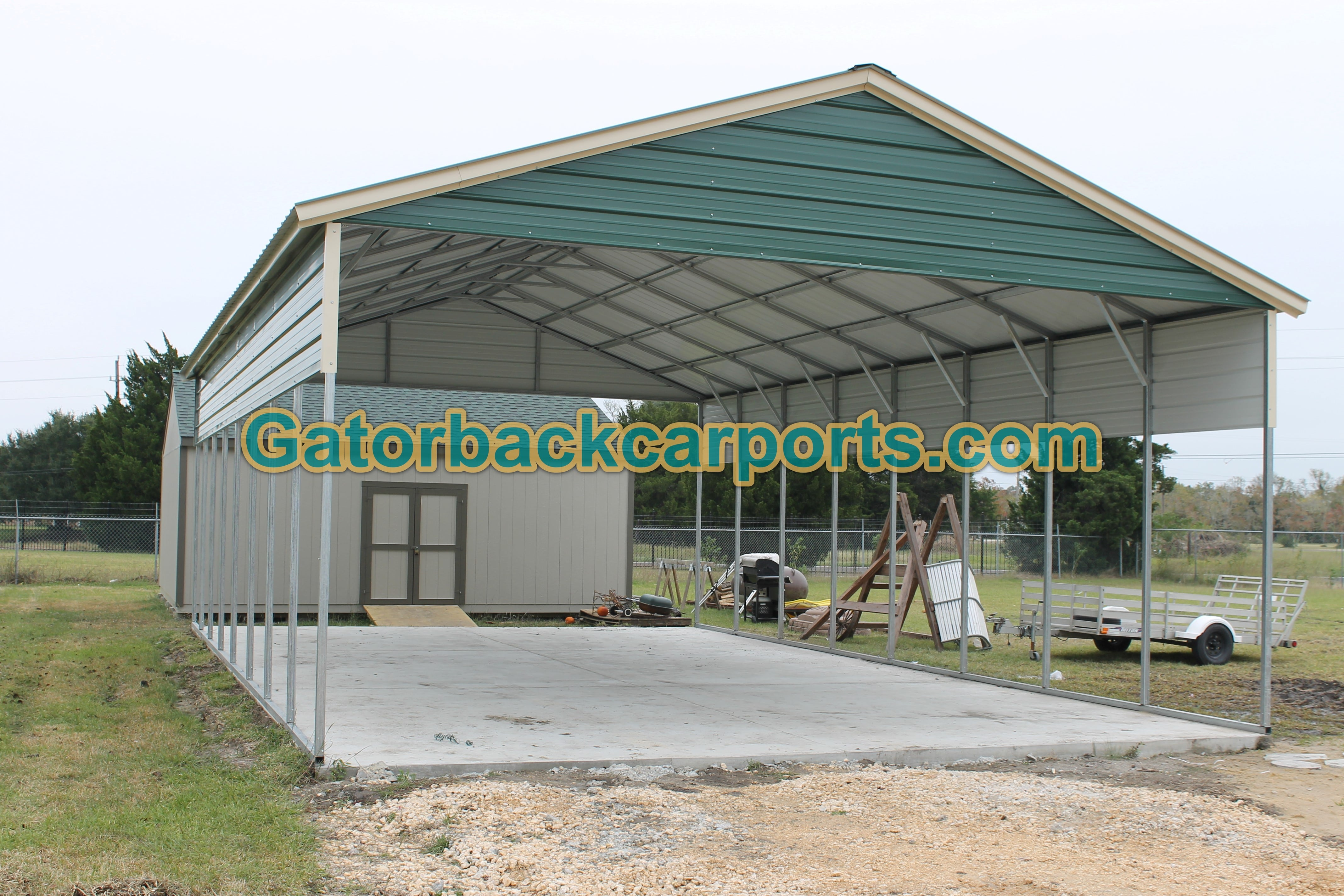 Metal carports waco tx texas carports of waco for Metal rv garage