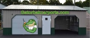 garage gator tan green