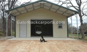 Metal Garage with Front Porch