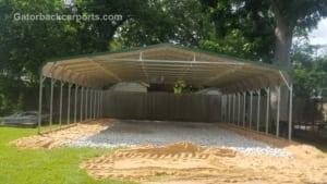 26-30 foot long triple wide carport
