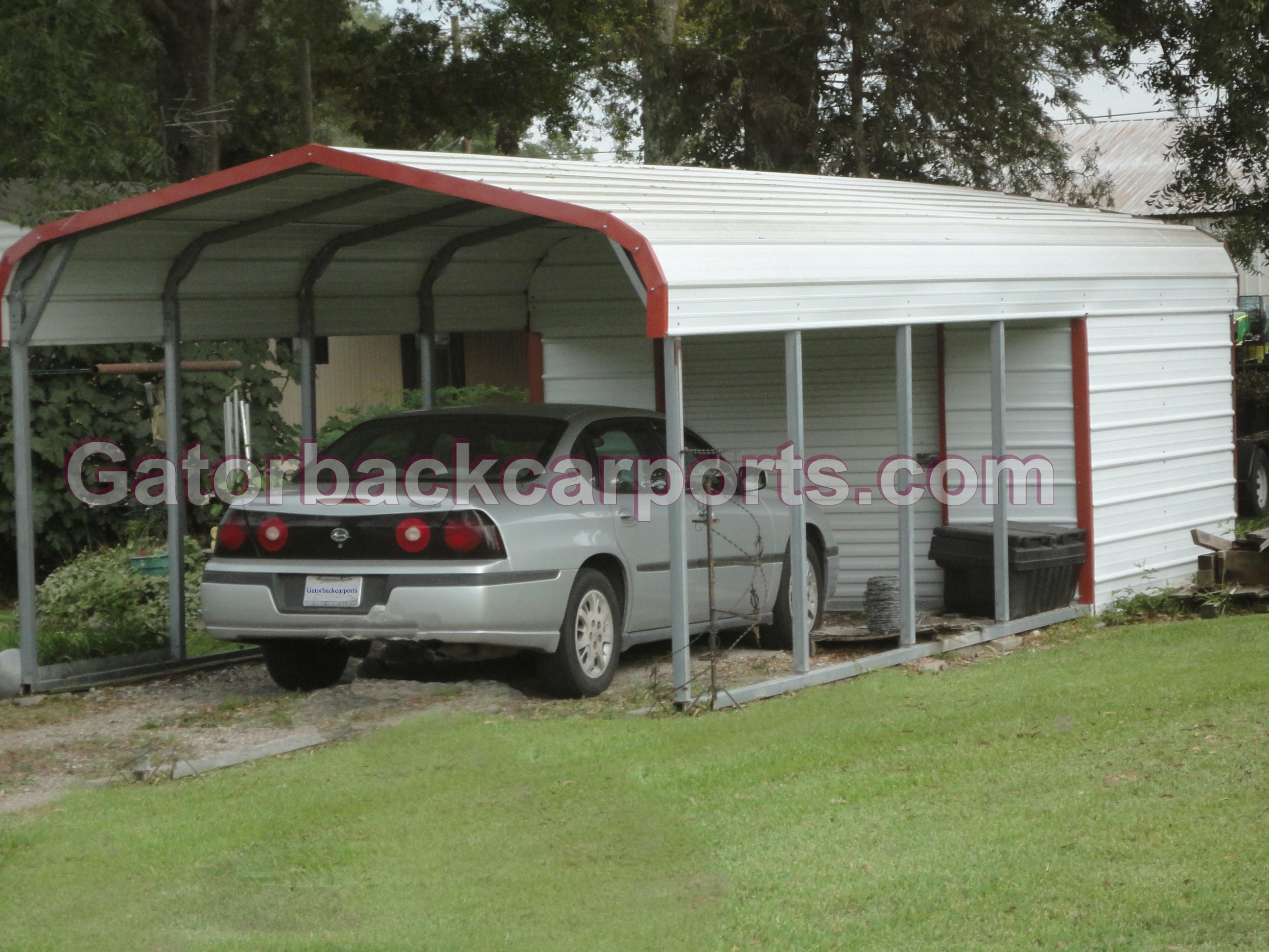 combo units carports with storage gatorback carports. Black Bedroom Furniture Sets. Home Design Ideas