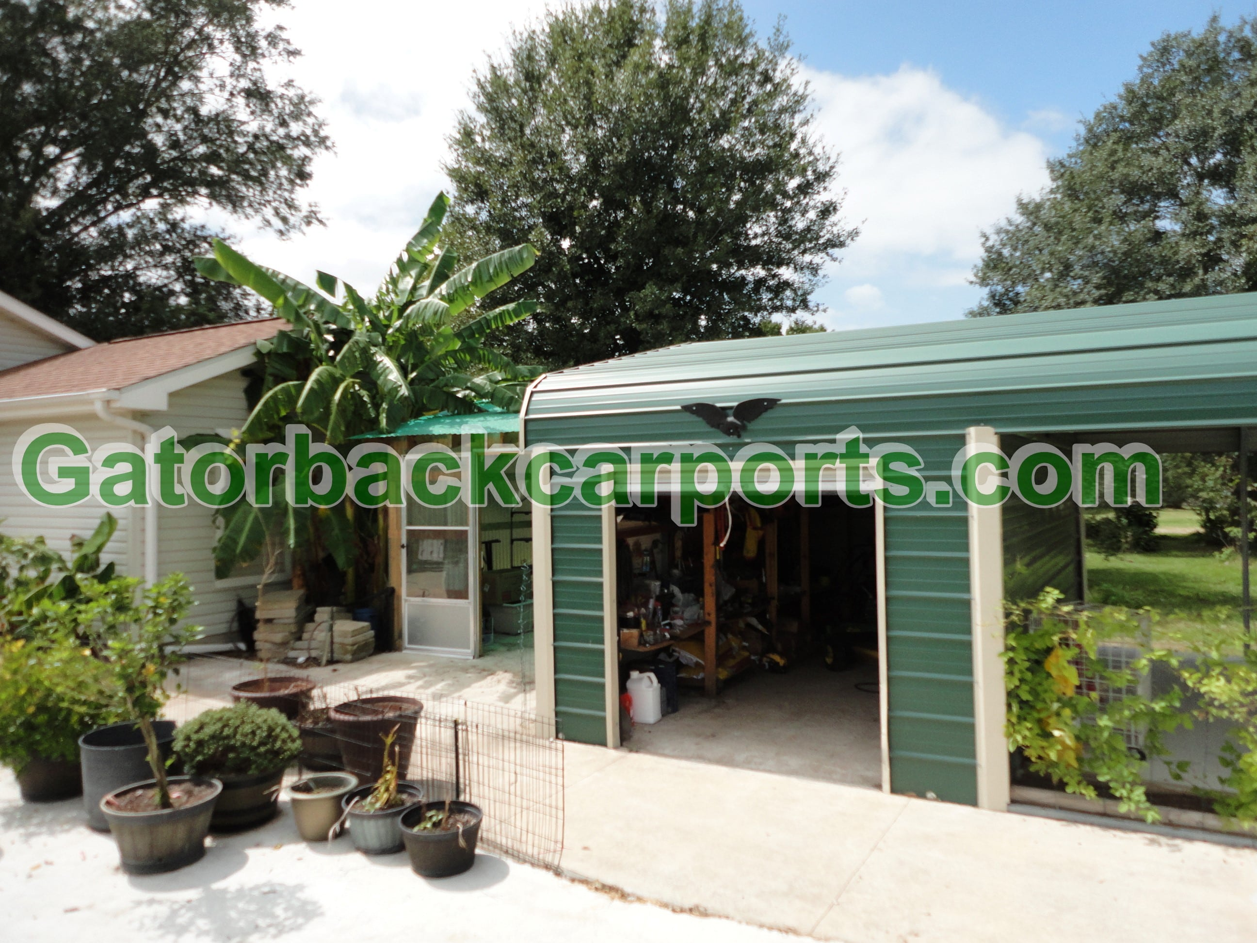 Combo units carports with storage gatorback carports for House plans with carport in back