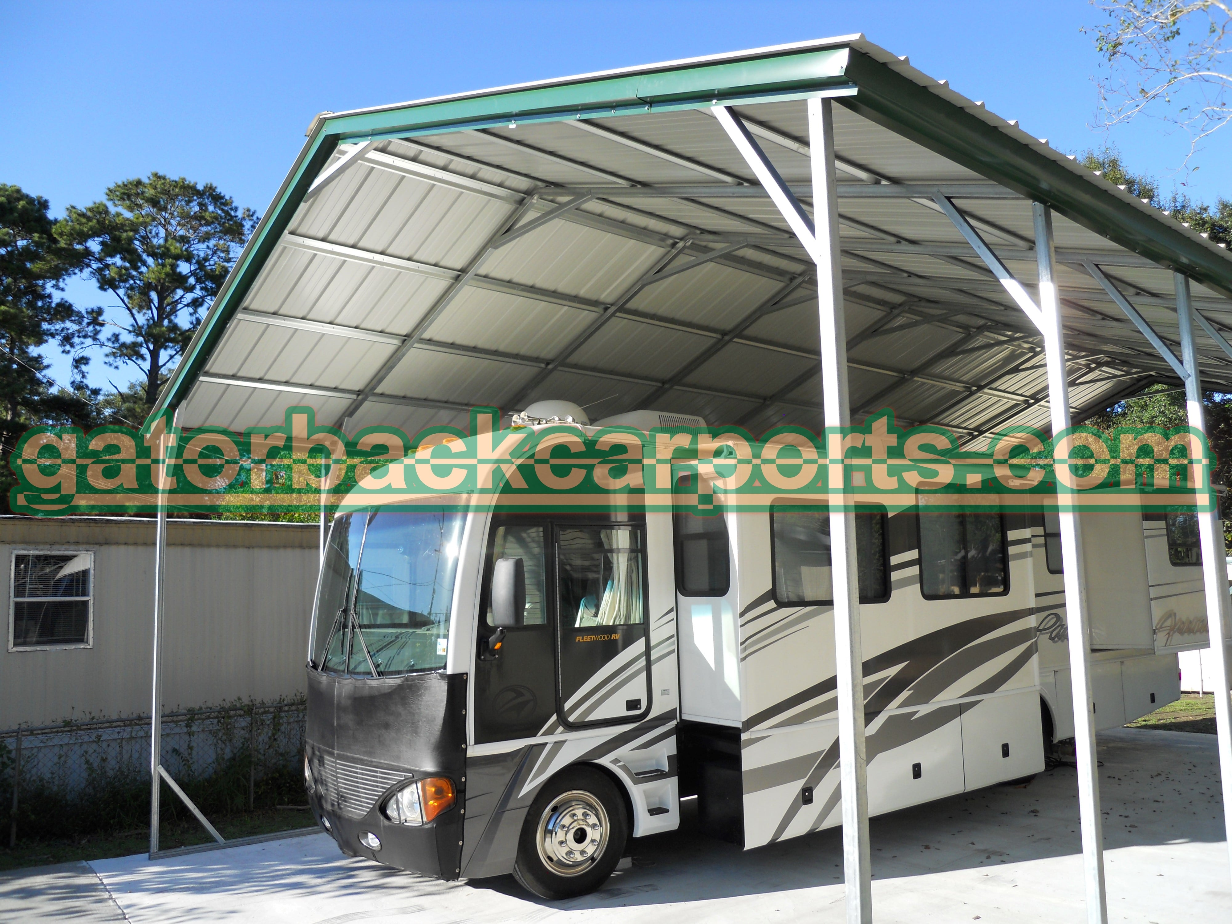 Faq gatorback carports for Motorhome carport plans