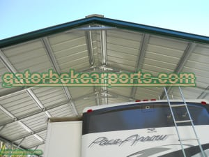 Vertical Roof System RV Carport