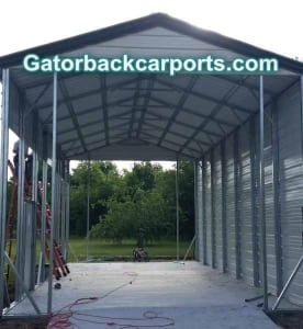 extra strength garage installation with double structural material