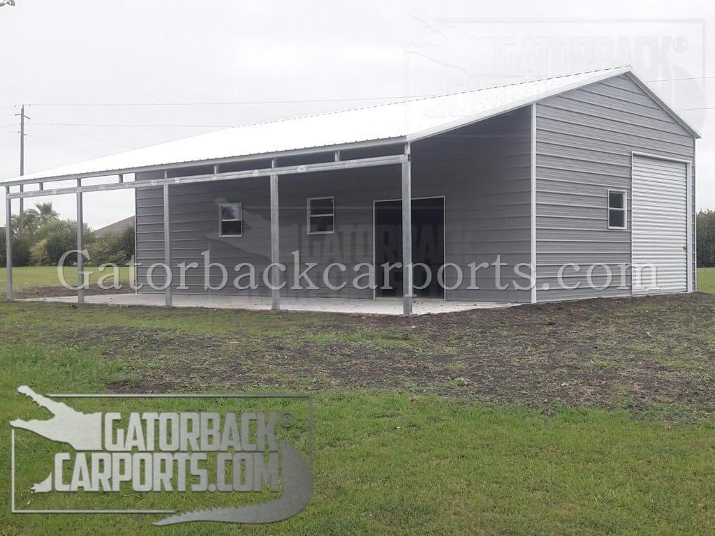 Lean To carports/ lean To garages - Gatorback CarPorts