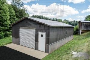 Large metal garage