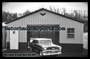 Vertically Installed Panel Garage