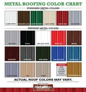 Metal Roofing Color Chart Portable Buildings Gatorback