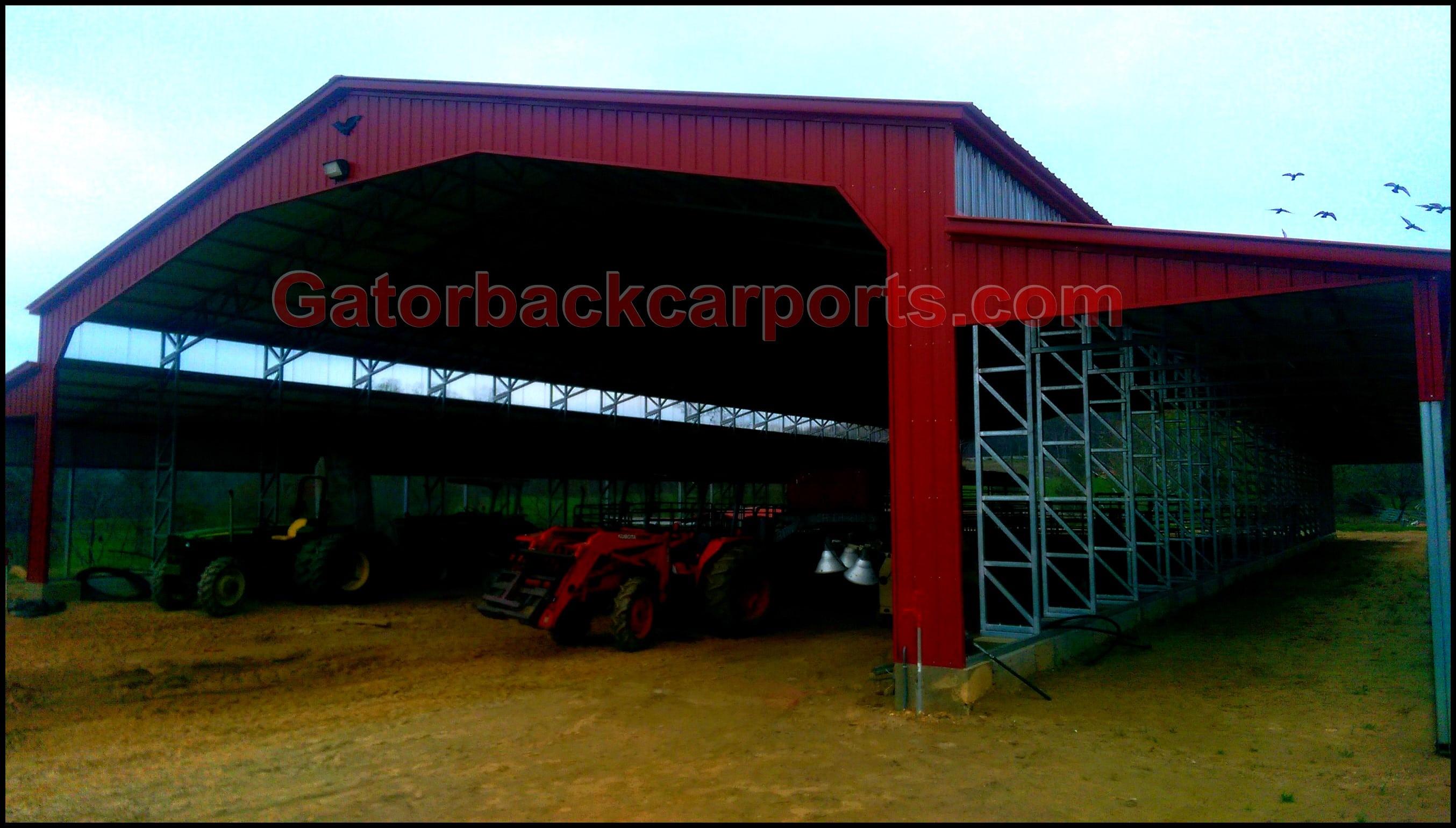 Commercial Metal Buildings - Gatorback CarPorts