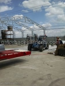 install commercial quality building with truss system