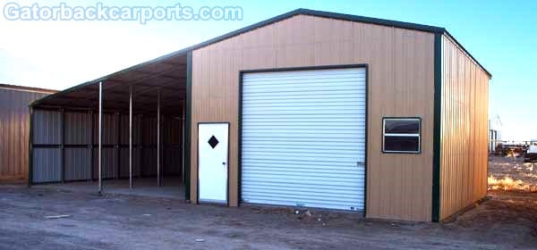 Hoover alabama metal carports hoover al carport garage for Carport shop combo