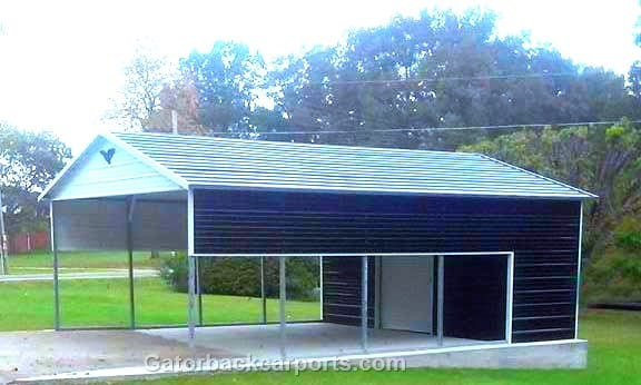 Combo Units (Carports with Storage) - Gatorback CarPorts