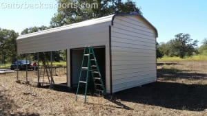 garage with storage side entry