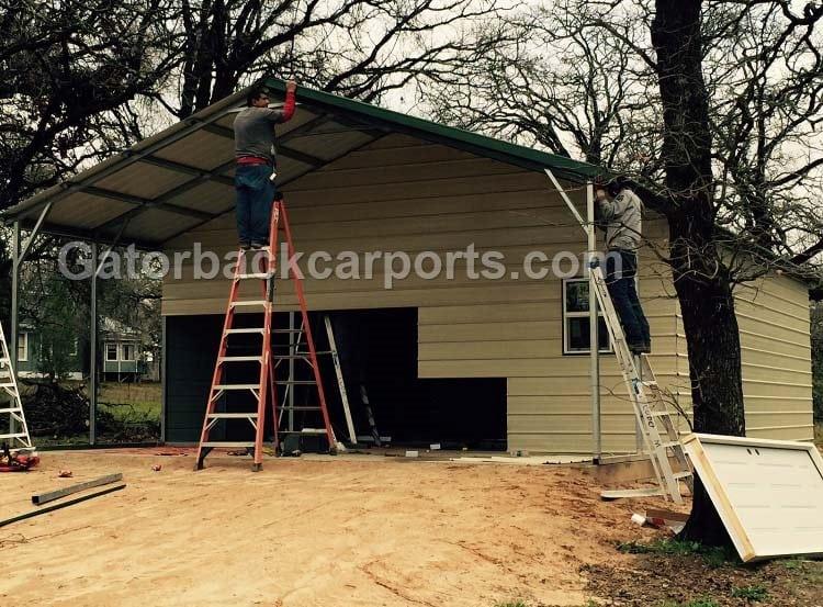 Car Being Built Garage : See garage being built gatorback carports