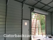 side entry 10x10 Garage door on 12 tall side wall of steel building