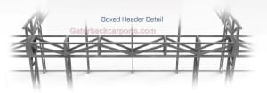 Header used on commercial Garage door opening 12' long