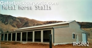 Metal Horse Barn with Stalls