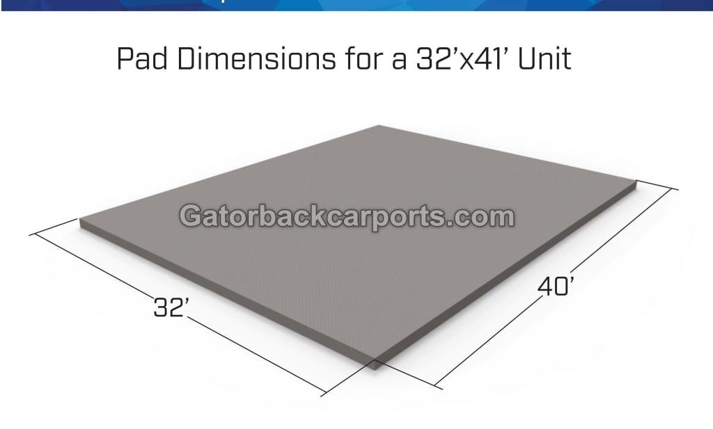 How To Determine Concrete Pad Size Gatorback Carports