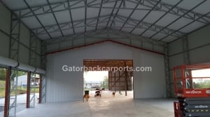 32 wide to 40 wide clear span commercial building