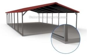 carport design for brick ledge in concrete