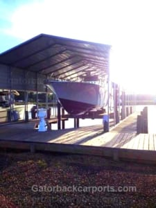 metal boat carport