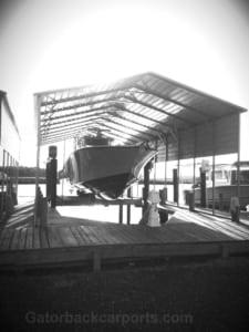 boat carport at marina