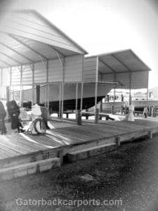 metal boat carport with closed sides