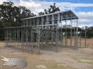 metal barn frame