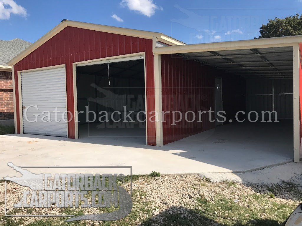 Garages gallery gatorback carports for Garage car port
