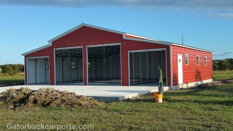 Barn gallery gatorback carports for Metal barn pictures