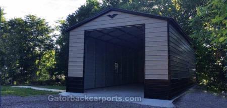 Garages gallery gatorback carports for 14 foot garage door prices